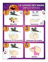 Affiche-Lavage des mains-Spécial Halloween