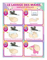 Affiche-Lavage des mains-Spécial Pâques