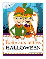 Affiche-boite aux lettres-Les lutins de l'Halloween