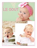 Affiche thematique poupons-Le gout