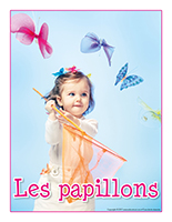 Affiche thematique-poupons-Les papillons