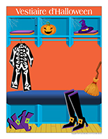 Affiche vestiaire-Spécial Halloween