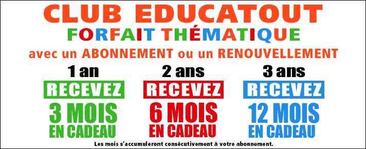 Club educatout en cadeau