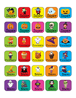 Autocollants miniatures pour récompenses-Halloween