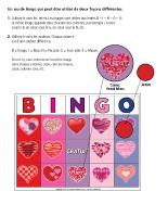 Bingo-La Saint-Valentin