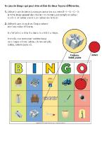 Bingo-La fête des Pères