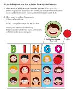 Bingo-Les émotions