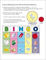 Bingo-Les pierres précieuses