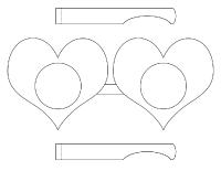 Bricolage-Lunette de coeurs
