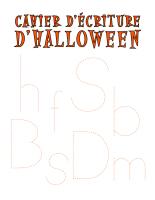 Cahier d'écriture-Halloween