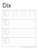 Cahier d'écriture-Les chiffres de 10 à 20