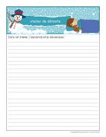 Cahier de suivi-Ateliers Hiver-2