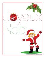 Cahier decriture-Noel
