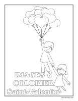 Cahier images à colorier-La Saint-Valentin