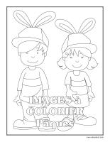 Cahier images à colorier-Pâques