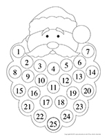 Calendrier avent-Barbe pere Noel-NB