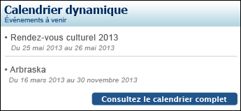Calendrier dynamique