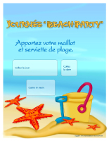 Calendrier perpétuel - Journée Beach party