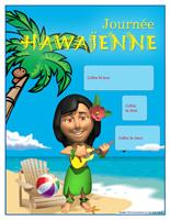 Calendrier perpétuel - Journée Hawaïenne
