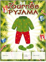 Calendrier perpétuel-Journée Pyjama