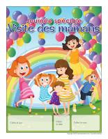 Calendrier perpétuel-Journée Spéciale-Visite des mamans