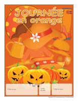 Calendrier perpétuel-Journée en orange