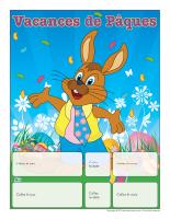 Calendrier perpétuel-Vacances de Pâques
