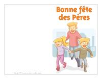 Carte-fêtes des Pères