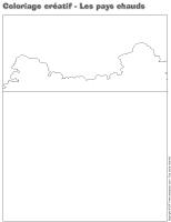 Coloriage créatif - Les pays chauds