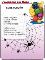 Comptine de Poni - L'araignée