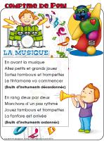 Comptine de Poni-La musique