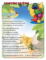 Comptine de Poni-Le zoo