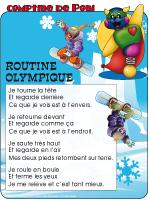 Comptine de Poni-Olympiades d'hiver