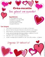 Créa-recette - Bec géant au chocolat