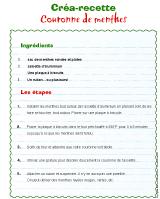Créa-recette - Couronne de menthes
