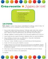 Créa-recette - Jujubes de Noël