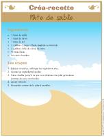 Créa-recette - Pâte de sable