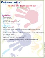 Créa-recette - Peinture aux doigts économique