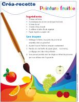 Créa-recette - Peinture fruitée