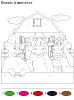 Dessin à Numéros - Les animaux de la ferme