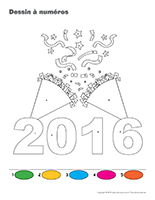 Dessin à Numéros-Bonne année 2016