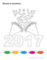 Dessin a Numeros-Bonne annee-2017