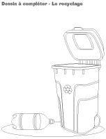 Dessin à compléter-Le recyclage