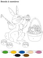 Dessin à numéros - Pâques