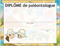 Diplôme de paléontologue