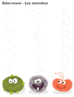 Éduc-tracé - Les microbes