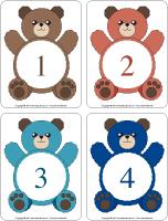 Éduca-chiffres - Les ours
