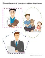Éduca-formes à tracer-La fête des Pères