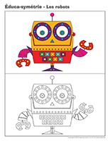 Éduca-symétrie-Les robots