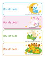 Étiquettes-bacs de dodo Pâques